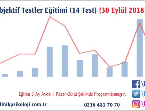 Objektif Testler Eğitimi (14 Test) 30 Eylül 2018
