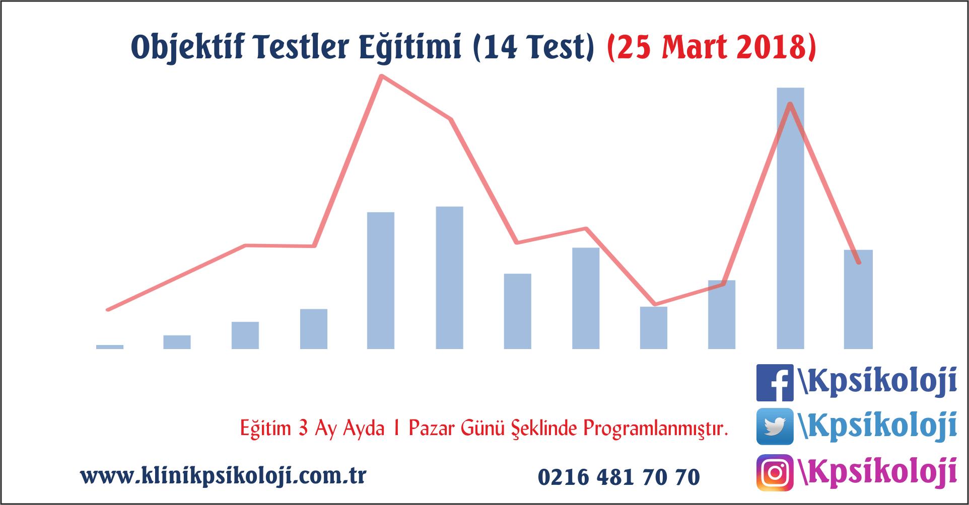 Objektif Testler Eğitimi (14 Test) (25 Mart 2018)