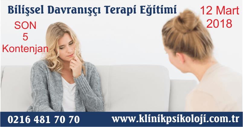 Bilişsel Davranışçı Terapi Eğitimi (Mart 2018)