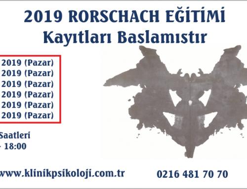 Rorschach Testi Eğitimi (Ocak 2019)