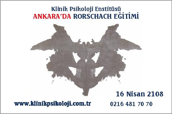 Ankara'da Rorschach Testi Eğitimi (Nisan 2018)