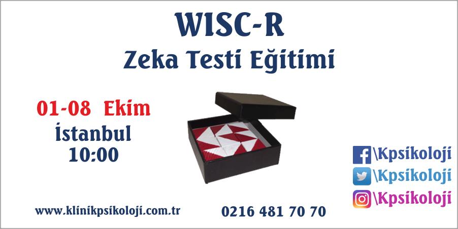 WISC-R Zeka Testi Eğitimi (01-08 Ekim 2017)