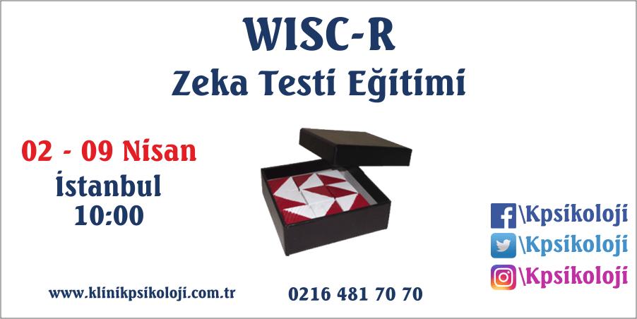 WISC-R Zeka Testi Eğitimi (02-09 Nisan 2017)