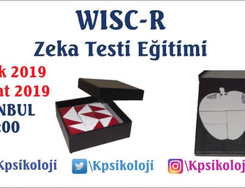 WISC-R Zeka Testi Eğitimi (13 Ocak 2019)