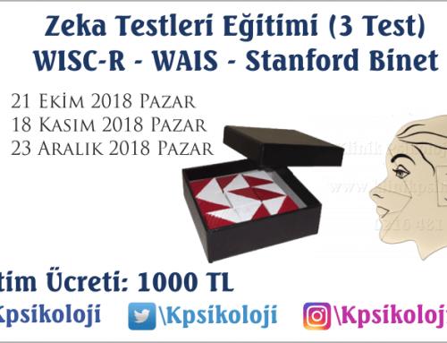 Zeka Testleri Eğitimi (WISC R – WAIS- ST. BINET)