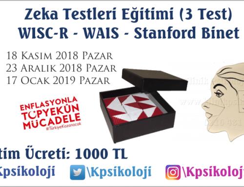 Zeka Testleri Eğitimi (WISC-R WAIS St. Binet) İndirim